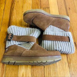 Sketchers Australia Knit Top Beige Boots Size 6